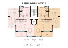 D-E Block Duplex Floor Plan