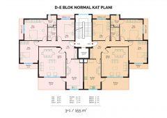 D-E Block Normal Floor Plan